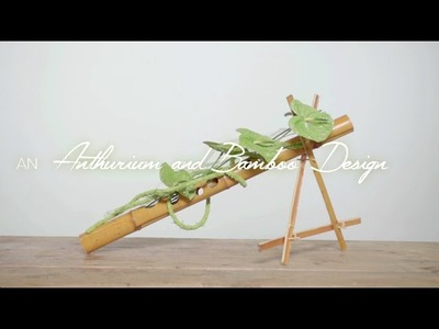 Anthurium and Bamboo Design by Pim van den Akker   Flower Factor How to Make   Powered by Fiore