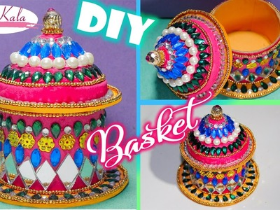 DIY How to Make a Basket from Recycled newspaper | Handmade Basket | Artkala