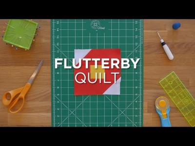 How To Make An Easy Flutterby Block - Quilt Snips Mini Tutorial