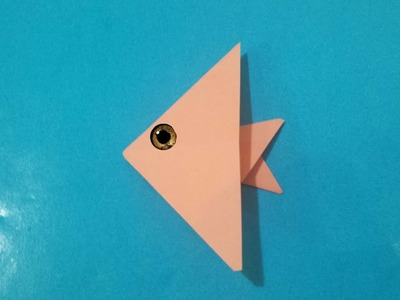 Origami angelfish - Easy paper origami fish