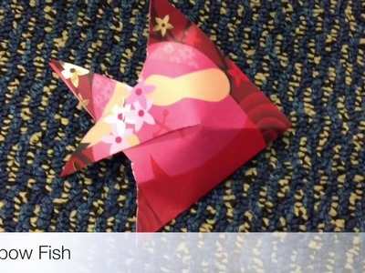Origami Fish DIY Cute Holiday Gift !!!!