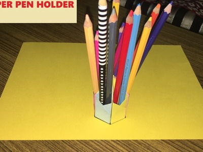 Paper Pen Holder Tutorial - Easy fun crafts for beginners