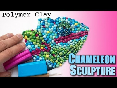 Polymer Clay Chameleon Sculpture. Speed Sculpting