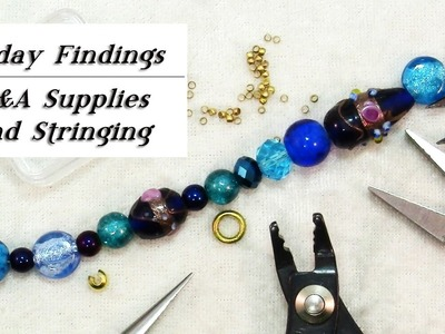 Q&A-Where to Find Jewelry Supplies, How To Finish Bead Stringing-Friday Findings
