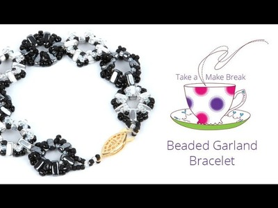 Beaded Garland Bracelet   Take a Make Break with Debbie