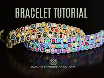 Celtic Inspired Beaded Macramé Bracelet Tutorial