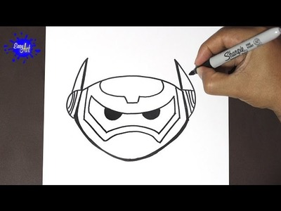 Como dibujar a baymax 4 | how to draw Baymax- Big hiro 6