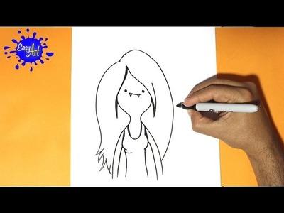 Como dibujar a marceline- Hora de aventuras | how to draw marceline- Adventure time