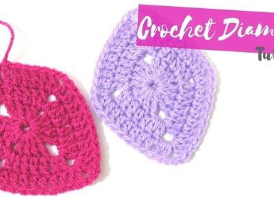 CROCHET: How to crochet a diamond   Bella Coco