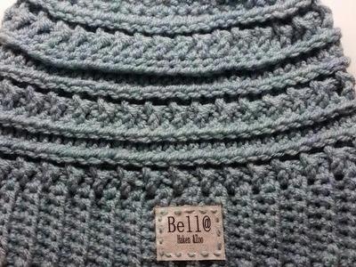 Crocheted Katniss Messy Bun Hat
