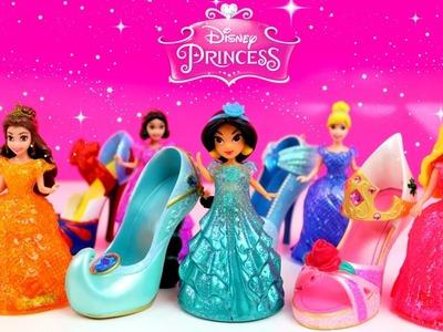 Disney Princess Magiclip Toys Surprises! Kids Glitter Glider Princess Dolls Dress Magic Surprises!