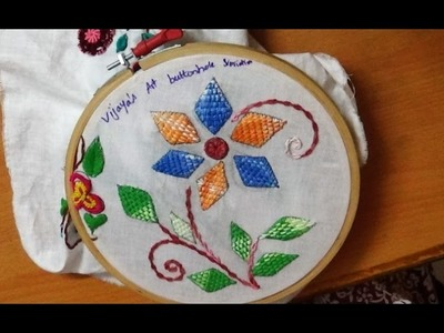 Embroidery Designs - Buttonhole stitch(variation) design