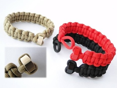 How to Make a Hex Nut Heart Shaped Knot and Loop Paracord Bracelet-Cobra Weave