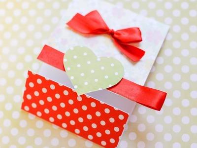 How to Make - Greeting Card Valentine's Day Heart - Step by Step DIY   Kartka Walentynki