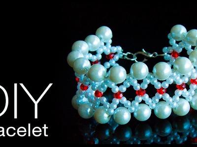 How to make pearl bracelet | DIY pearl bracelet | make pearl jewelry