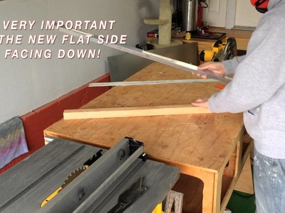Quick and easy way to straighten wood with a table saw!