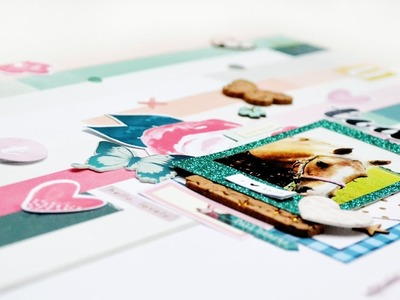 Scrapbooking Process #125: Hello Lovely (Citrus Twist December Kits)