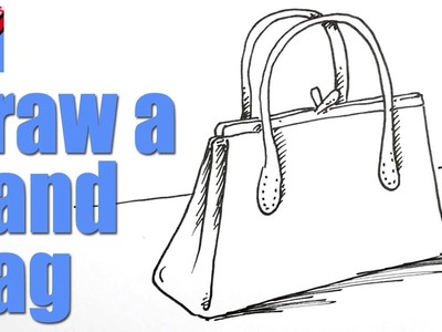 How to draw a handbag real easy