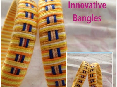 How to easy make Embroidery thread Bangles