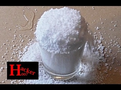 How to make instant snow in few seconds. Insta-Snow Powder by super absorbent polymer | Hacker007