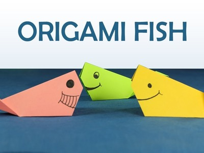 Kids Craft: Easy Origami for Kids, DIY Origami Fish Step by Step Tutorial