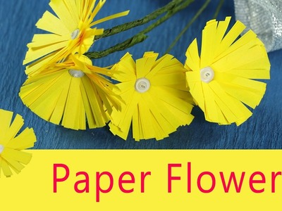 Paper Flower Craft for Kids - Very Easy DIY Paper Flowers