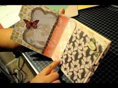 Shaped hinge envelope mini album