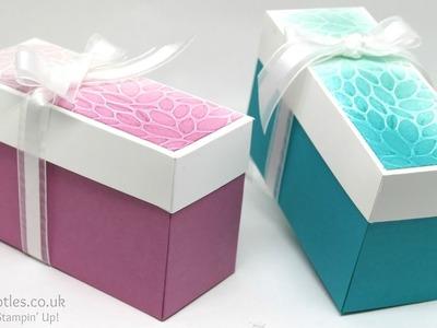 Sponged & Dry Embossed Lidded Box