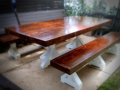 The Farmhouse Table Build. A commissioned piece 2 of 2