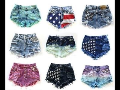 Tutorial para hacer shorts cortos y a la moda.Tutorial to make shorts short and fashionable