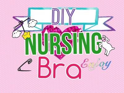 DIY nursing bra.