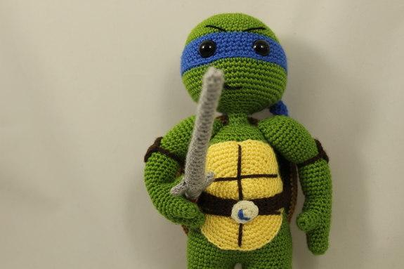 Ninja Turtle Crochet Amigurumi : Ninja Turtles Leonardo Amigurumi Crochet Pattern ...