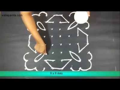 Best Simple Rangoli Designs With Dots Step By Step For Diwali