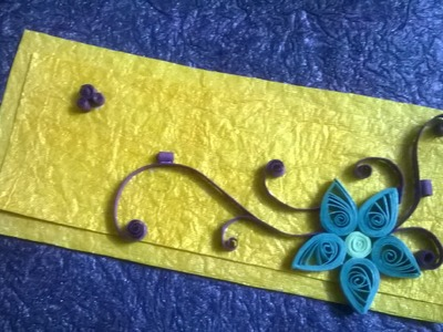 Greeting Card with Quilling Technique