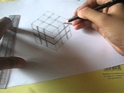 HOW TO DRAW 3D RUBIK CUBE