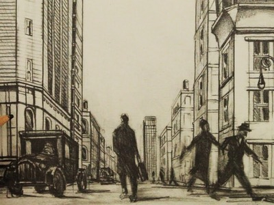 How to Draw a Street in 1-Point Perspective: New York City 1926