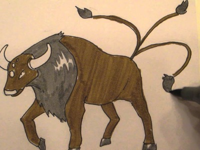How to draw Pokemon: No,128 Tauros