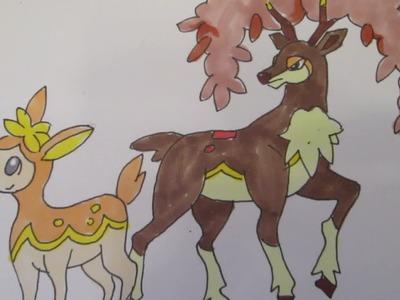 How to draw Pokemon: No.585 Deerling, No.586 Sawsbuck