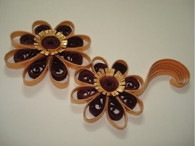 How to make Flower with paper quilling