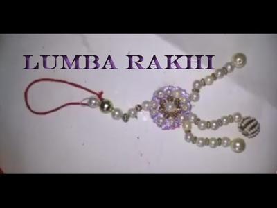 How To Make Lumba Rakhi With Pearls | Craftlas