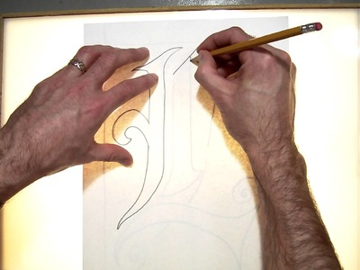 Light box Tracing of letter (Part 3.10).MOV