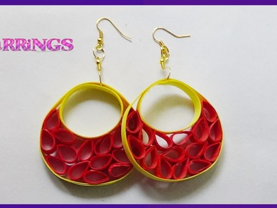Paper quilling: earrings designs - Hand crafts Making