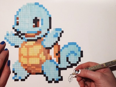 Pixel Art Pokemon - Squirtle (Speed Drawing)