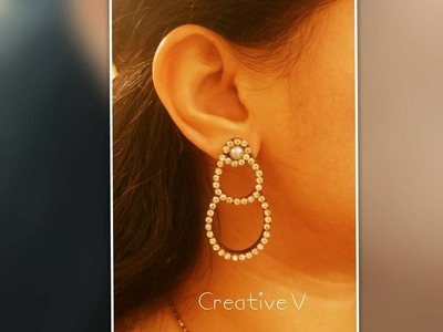 Quilling Chandbali Style Earring Tutorial 2