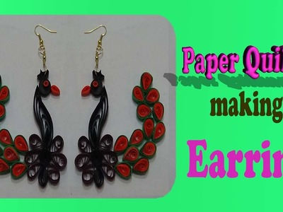 Quilling Fashion Hand Made Peacock Earrings