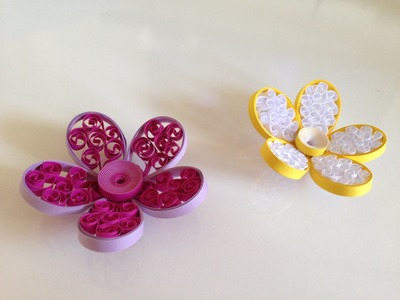 Quilling Flowers using a tiny pillow