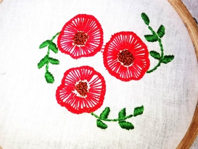 Quilling Made Easy : Hand Embroidery: Beautiful Ruffle button hole stitch Flower