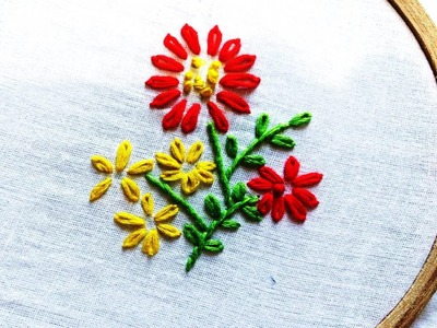 Quilling Made Easy : Hand Embroidery: Lazy Daisy Stitch Beautiful Flower