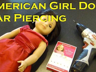 AG American Girl Doll Ear Piercing How To