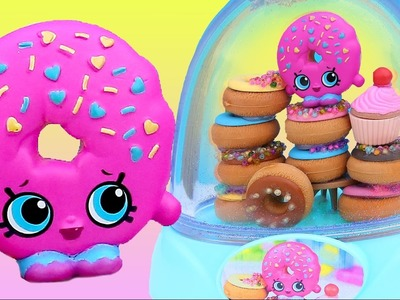 D'LISH DONUT SHOPKINS GLITTER GLOBE Make Your Own Icing Sprinkles Beads Cherry On Top + Lippy Lips